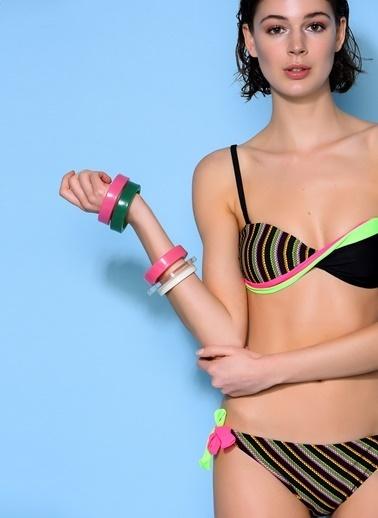 Loves You Dönmeli Straplez Bikini Takım Siyah